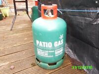 Gas bottle with about a 1/4 of gas in it ideal p/x to save heavy surcharge
