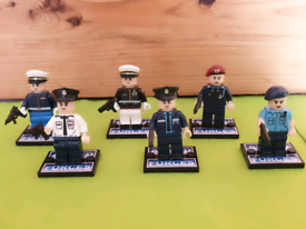 Set of 6 Armed Forces lego style minifigures