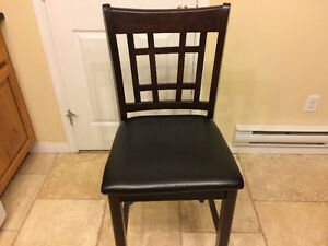 4 bar height chairs