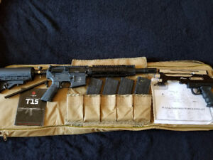 Tiberius T15, 4 Mags, Case + PT Xtreme Pistol, and Accessories!!