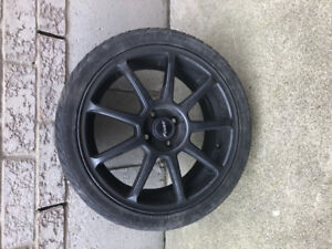 Set of 4 tires 205/40ZR17 with rims