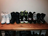 KIDS SNOWBOARD BOOTS AND BINDINGS LOOK NO FURTHER NEW SIZE 2 - 5