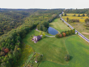 19 acres, 4300 sq ft, 4 beds plus office custom home