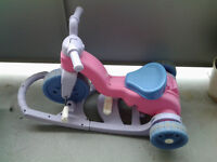 fisher-price rock,rock'n ride tricke