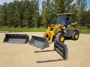 Brand New Wheel Loaders With Two Buckets And Forks