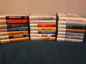 Nintendo DS games and carrying case