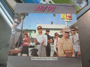 AC/DC ALBUM,  DIRTY DEEDS DONE DIRT CHEAP