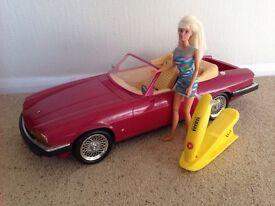 Jointed Barbie Jet Ski and Jaguar XJS