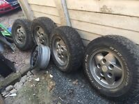 Bf Goodrich Land Rover discovery defender tyres alloys