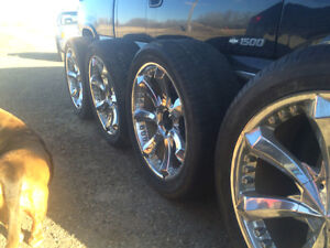 22 in rims and rubber