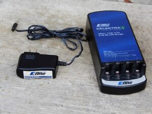 E-flite Li-po charger 1 cell 3.7V with 4 ports like new$25