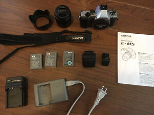 Olympus Om-D E-m5 Camera, lens, and accessories