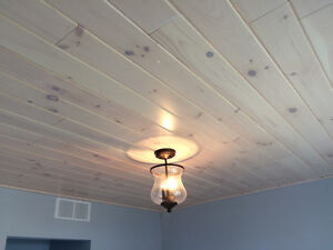 White Pine Pickle Board Panelling