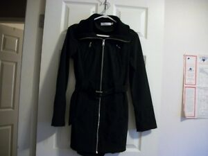 new black rickis shell coat with hat