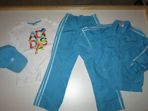 Girls Clothing Lot #5 - size 6/7 Adidas in Turquoise Belleville Belleville Area image 1