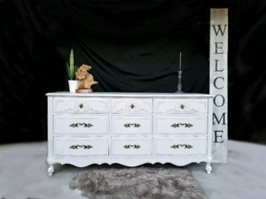 "FREE DELIVERY Soft Grey, Handcrafted Dresser ""Malcolm Furniture"""