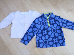 Fleece / Thick Reversible Cardigans (Girl 18 months)