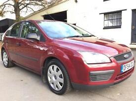 2005 54 Ford Focus 1.6 (115) LX 5 Door Met Deep Rosso Red **LOW MILEAGE**