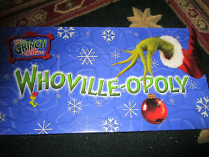 Dr. Suess How the Grinch Stole Christmas WhoVille-Opoly game