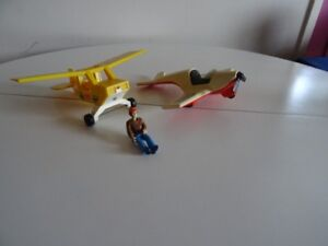 Ancien Fisher Price Adventure People Sport Plane 306 Patrol 307
