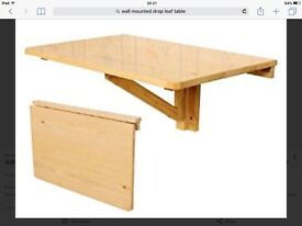 wall mounted drop leaf desk or table