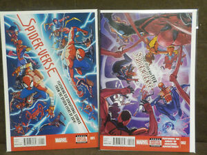 Marvel Spiderman Spiderverse #1 and #2 Various stories