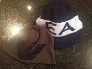 2 Emporio Armani EA hats Grey navy Size 57 58 M L 100% Authentic