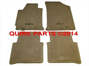 2008-2012 Nissan Altima Beige Tan Carpeted Floor Mats Front & Rear Set OEM NEW