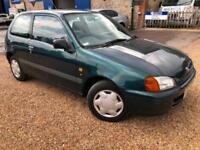 1998 'R' Toyota Starlet 1.3i S. Petrol Manual Cheap First Car Runaround. Px Swap