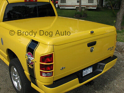 Dodge Ram Fiberglass Hard Tonneau Bed Covers 2002-2020 PAINTED Sport Lid Wrap