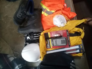 Construction gear with instruments and boots