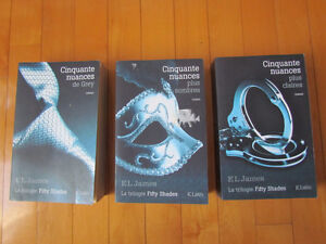 COLLECTION DE 3 LIVRES FIFTY SHADE OF GRAY, pour voyage, TEMPS L