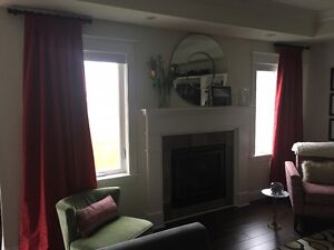 Custom Made Curtain Panels & Roman Blind