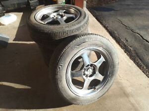 Bridgestone Turanza Tires 15' with alloy wheels. Like new.