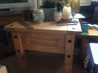 Corona Mexican pine square coffee table
