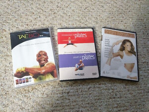 3 Workout DVDs