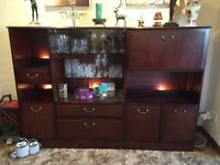 Large Mahogany Display/Drinks Cabinet