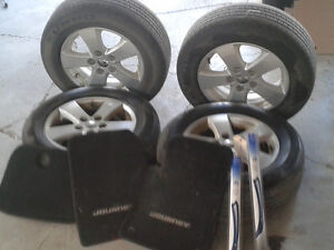 Tires with alloy rims