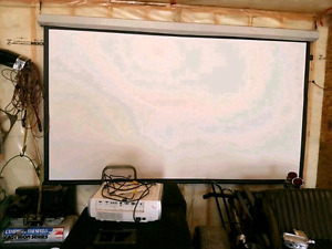 131 inch projection screen