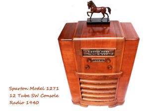 940 Sparton Model 1271 12-tube Short-Wave Console Radio