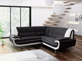*50% OFF RRP** MODERN DESIGN CORNER SOFAS, 3+2 SETS**ARM CHAIRS & FOOT STOOLS**4 COLOUR OPTIONS *