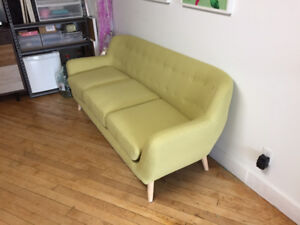 Green Couch/Sofa - mid century modern inspired