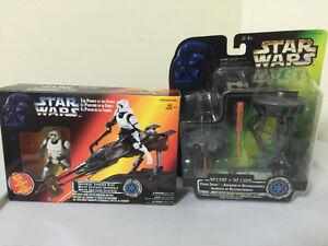 Star Wars biker and probe droid