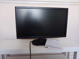 Iiyama prolite 24 inch black monitor with instructions/leads