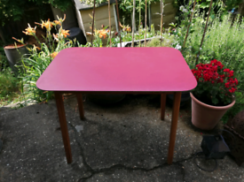 Retro Formica Table - Cherry