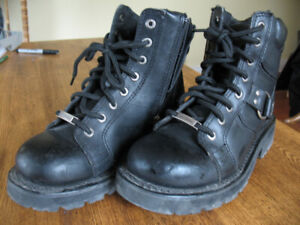 Women's Leather Harley-Davidson boots - BLACK