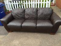 Good leather 3 seat sofa