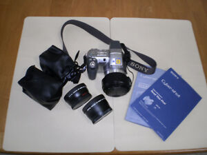 Sony DSC-H2 Cyber-shot Camera and lenses