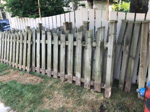 Wood (pressure treated) fence