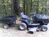 16.5 horsepower Murray Lawn tractor with trailer